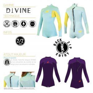 Soöruz Divine Shorty LS Back-zip Damenneoprenanzug (2/2)
